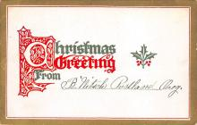 xms004047 - Christmas Holiday Postcard Vintage Xmas Post Card