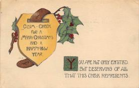xms004049 - Christmas Holiday Postcard Vintage Xmas Post Card