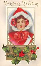 xms004061 - Christmas Holiday Postcard Vintage Xmas Post Card