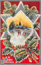 xms004091 - Christmas Holiday Postcard Vintage Xmas Post Card
