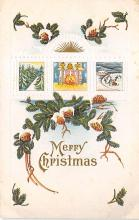 xms004099 - Christmas Holiday Postcard Vintage Xmas Post Card