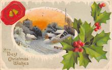 xms004109 - Christmas Holiday Postcard Vintage Xmas Post Card