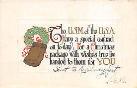 xms004123 - Christmas Holiday Postcard Vintage Xmas Post Card