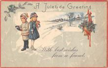 xms004161 - Christmas Holiday Postcard Vintage Xmas Post Card