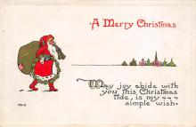 xms004181 - Santa Clause Christmas Postcard