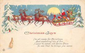 xms004237 - Christmas Post Card Old Xmas Postcard
