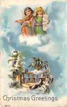 xms004317 - Christmas Post Card Old Xmas Postcard