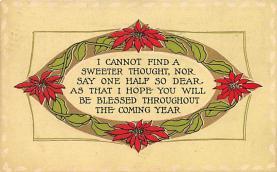 xms004413 - Christmas Post Card Old Xmas Postcard