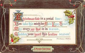 xms004707 - Christmas Postcard