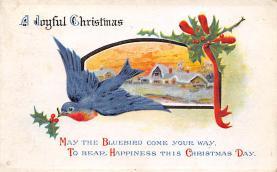 xms004801 - Christmas Postcard Old Vintage Post Card