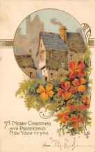 xms004811 - Christmas Postcard Old Vintage Post Card