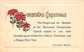 xms004819 - Christmas Postcard Old Vintage Post Card