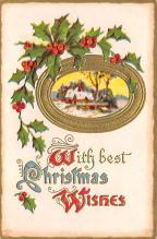 xms004825 - Christmas Postcard Old Vintage Post Card