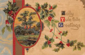 xms004839 - Christmas Postcard Old Vintage Post Card