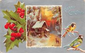 xms004847 - Christmas Postcard Old Vintage Post Card