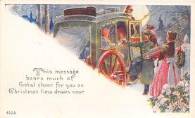 xms004863 - Christmas Postcard Old Vintage Post Card