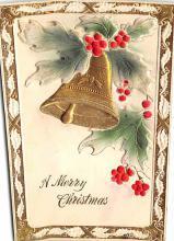 xms004875 - Christmas Post Card Antique Xmas Postcard
