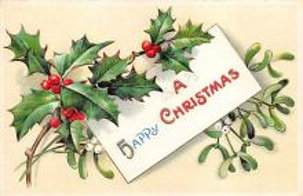 xms004887 - Christmas Post Card Antique Xmas Postcard