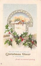 xms004891 - Christmas Post Card Antique Xmas Postcard
