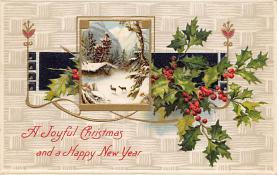 xms004893 - Christmas Post Card Antique Xmas Postcard