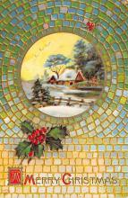 xms004899 - Christmas Post Card Antique Xmas Postcard