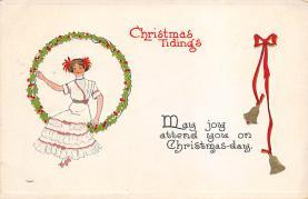 xms004933 - Christmas Post Card Antique Xmas Postcard