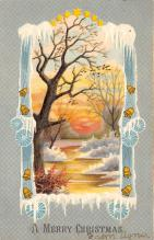 xms004943 - Christmas Post Card Antique Xmas Postcard