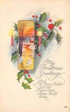 xms004955 - Christmas Post Card Antique Xmas Postcard