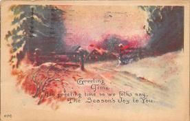 xms005147 - Christmas Postcard