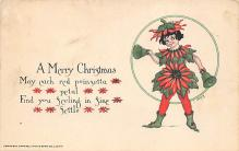 xms005727 - Christmas Post Card Old Vintage Antique Xmas Postcard