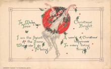 xms005731 - Christmas Post Card Old Vintage Antique Xmas Postcard