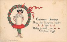 xms005733 - Christmas Post Card Old Vintage Antique Xmas Postcard