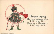 xms005737 - Christmas Post Card Old Vintage Antique Xmas Postcard
