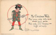 xms005739 - Christmas Post Card Old Vintage Antique Xmas Postcard