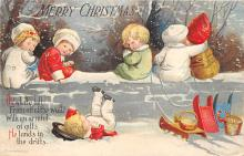 xms005741 - Christmas Post Card Old Vintage Antique Xmas Postcard