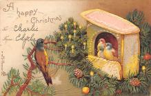 xms005745 - Christmas Post Card Old Vintage Antique Xmas Postcard