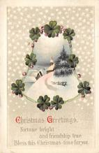 xms005747 - Christmas Post Card Old Vintage Antique Xmas Postcard
