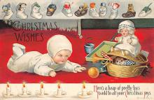 xms005751 - Christmas Post Card Old Vintage Antique Xmas Postcard