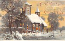 xms005753 - Christmas Post Card Old Vintage Antique Xmas Postcard