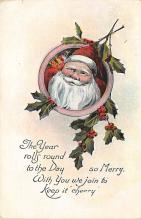 xms005757 - Christmas Post Card Old Vintage Antique Xmas Postcard