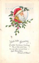 xms005759 - Christmas Post Card Old Vintage Antique Xmas Postcard