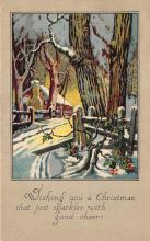 xms005767 - Christmas Post Card Old Vintage Antique Xmas Postcard