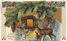 xms005777 - Christmas Post Card Old Vintage Antique Xmas Postcard