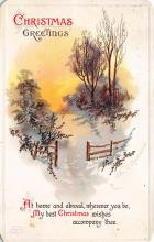 xms005787 - Christmas Post Card Old Vintage Antique Xmas Postcard
