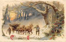 xms005789 - Christmas Post Card Old Vintage Antique Xmas Postcard