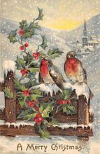 xms005795 - Christmas Post Card Old Vintage Antique Xmas Postcard