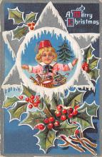 xms005797 - Christmas Post Card Old Vintage Antique Xmas Postcard