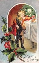 xms005801 - Christmas Post Card Old Vintage Antique Xmas Postcard