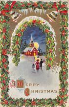xms005803 - Christmas Post Card Old Vintage Antique Xmas Postcard