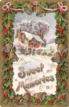 xms005805 - Christmas Post Card Old Vintage Antique Xmas Postcard